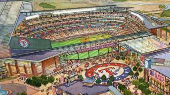 New Billion-Dollar Texas Rangers ballpark for Arlington