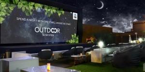 Watching the movie stars under the stars