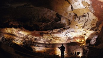 Palaeolithic Lascaux cave recreation and VR cinema