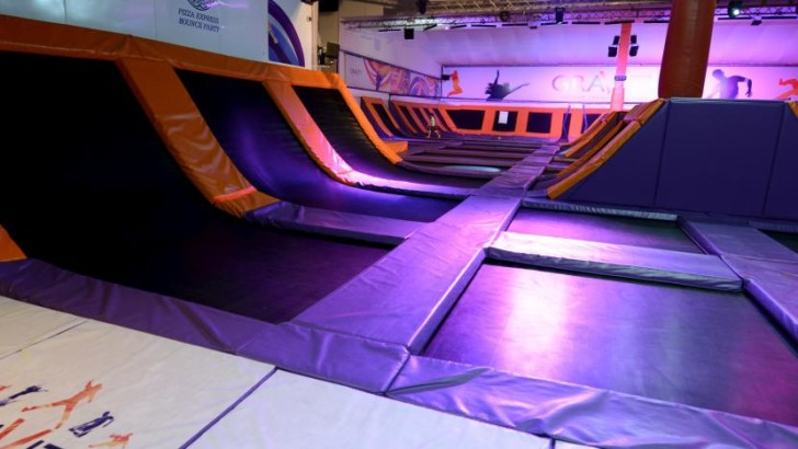 Bouncing at Bluewater Shopping Centre by Christmas