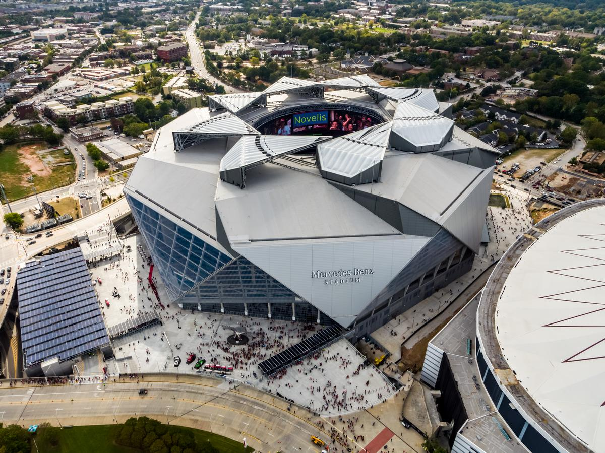 Video Mercedes Benz Stadium Rated Most Sustainable In The