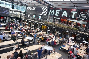 Boxpark Croydon full of diners